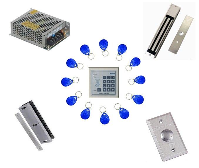 Free ship by DHL ,access control kit ,one EM keypad access control+power+magnetic lock +U bracket+button+10 em card,sn:em-005<br><br>Aliexpress