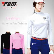 2015 Top Quality PGM Golf Clothing Ladies Long-sleeved T-shirt Women Autumn and Winter Thermal Underwear Pink White Black New
