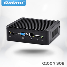 Dual Core X86 Ununtu Computer Mini PC with Nano Mini ITX Celeron 1037U Barebone Linux Mini PC QOTOM(China)
