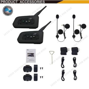 2X BT 1200 M Casque de Moto Interphone jusqu'à 6 coureurs Sans Fil intercomunicadores de motos MP3 GPS interphone Livraison gratuite
