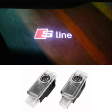 2pcs/lot No Drilling LED Ghost Shadow Projector Laser Courtesy Logo Light For AUDI A1 A3 A4 A5 A6 A7 A8 R8 Q5 Q7 TT S line(China)