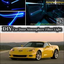 For Chevrolet Corvette interior Ambient Light Tuning Atmosphere Fiber Optic Band Lights Inside Door Panel illuminatio For Tuning