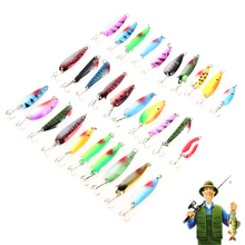 Buy Spoon Fishing Lure 30pcs/lot Spinner Spoon Metal Lure Artificial Bait Fishing Lure Kit Artificial Hard Fake Fish Metal Lures Set for $9.60 in AliExpress store