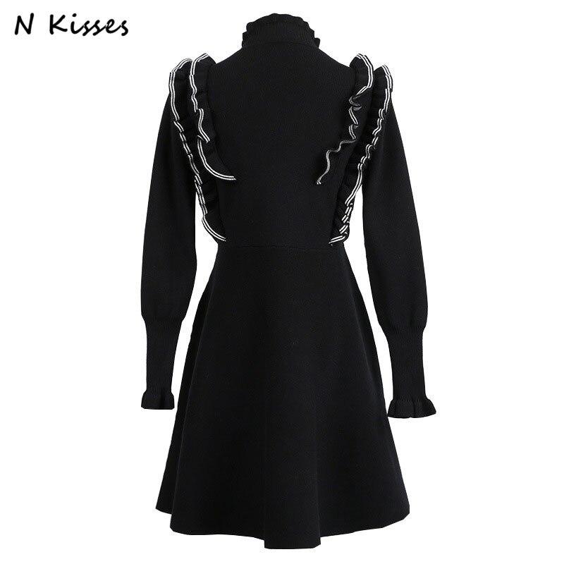 2018 Spring New Arrival Fashion Sweater Female Full Sleeve Fungus Edge Pattern Pullovers High Quality Knitted Slim Casual TopsÎäåæäà è àêñåññóàðû<br><br>
