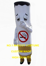 cigarette mascot costume for adult Non-smoking advertising lung health theme tobacco cigarette anime cosplay costumes 2844(China)