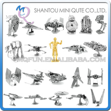 Piece Fun 3D Laser Cut DIY Assembly Models Metal Puzzle star wars star trek Tie Fighter Xwing BB8 Adult kids educational toy