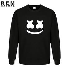 New Arrived marshmello face men casual homme cotton tops plus fashion long sleeve  Hoodies, Sweatshirts