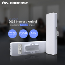 5.8G 300M Long distance Outdoor CPE Comfast CF-E312A WiFi Bridge Wireless Router Repeater 2*14dBi Wi fi Antenna 48v POE WI FI ap
