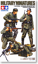 TAMIYA 1/35 scale models 35293 World War II German Army infantry group French front