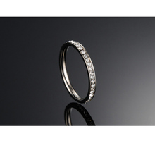 FUNIQUE Jewelry Stainless Steel Rings With CZ Stone For Women Bright Sliver Tone Rings Women Fashion Jewelry Gifts 4 Sizes ,1PC