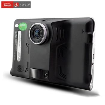 """Junsun 7 """"Android de Navegación GPS navegador de Coche detector de radar DVR cámara Tablet PC 8G Europa/Navitel Mapa sat nav vehículo gps"""