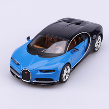 Bugatti Chiron Car Model Toys 1/24 Scale Blue Diecast Racing Car Vehicles Model Toys For Children Christmas Gifts Collections
