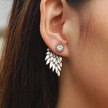 2017 Time-limited New Arrival Trendy Zinc Alloy Fashion Earrings Wings Of An Angel By Cubic Zirconia And Alloy For Lady Banquet