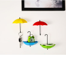 6pcs/lot Umbrella Hook rails with Strength Seamless sticker for Key Hair Pin small items Holder Organizer candy color Home CA