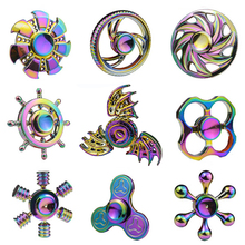 Buy 2017 New Mixed 100Pcs/Lot Rainbow Colorful Aluminium Hand Fidget Finger Spinner Adult Anti Stress Relief Toys Metal Box EDC for $318.99 in AliExpress store