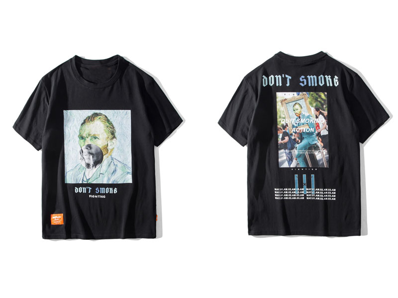 Funny Smoking Van Gogh Tshirts 2