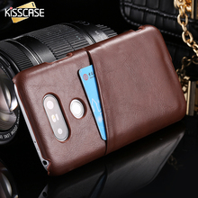 KISSCASE Elegant Retro High Quality PU Leather Case For LG G5 Case with Card Slot Back Cover For LG G5 H858 Coque Shell Capa