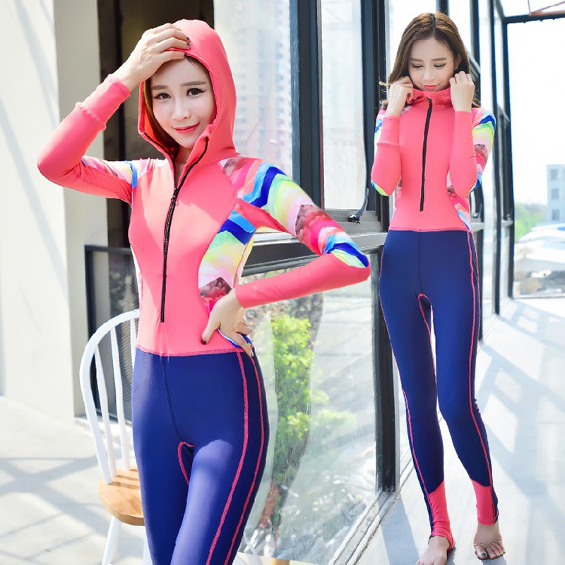 Swimming Suit For Women Plavky Girls Swim One Piece May Beach Seir Zipper Long Sleeve Pants Mayo Maio Traje De Bano Mujer<br>