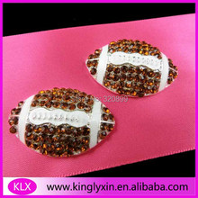 (100pcs/lot ) rugby rhinestone buckle for ribbon slider,Rhinestone buckle for wedding invitation card(China)