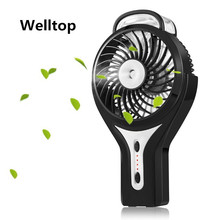 Welltop Mini Handheld Misting Fan Personal Mist Humidifier Portable Cooling Fan Rechargeable beauty humidifie USB Fan ventilador