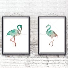 Nordic Minimalist Typography Geometric Flamingo Art Print Poster Nursery Wall Picture Canvas Painting No Frame Living Room Decor(China)