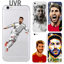 UVR Brand Sergio Ramos phone case for iphone 5 5s 6 6s 7 8 plus 6plus soft TPU Transparent Football case(China)
