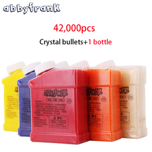 Abbyfrank 1 Bottle & 42000Pcs Color Crystal Paintball Soft Bullets Gun Toy Gun Accessories Crystal Water Bullet Mud Soil Orbeez(China)