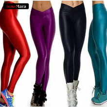 Buy New Arrival Candy Color Legging V Style High Waist Women Fashion Push Legins Pants Elastic Workout Fitness Leggings Plus Size for $7.60 in AliExpress store