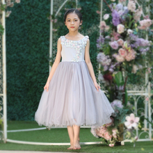 Cutestyles Long Flower Girl Dresses For Weddings Lavender Flower Party Dress For Teenager Girls Kids Clothing G-DMGD908-1053
