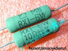 10PCS RX1-6W RX1 wire wound resistor RX21 RX21-6W green r 10 10ohm RX21 6w 10rj 5% new in stock can pay