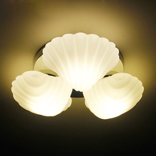 46cm white E27 ceiling lights brief fashion personality 3 pieces shell ceiling lamp lighting droplight bedroom lamps FG267