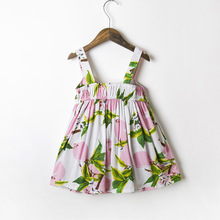 floral printed summer cute bandage newborn one year old baby girl dress european style
