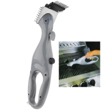 Gas BBQ Grill Cleaning Brush Barbecue Cleaner Clean Tools - Grey