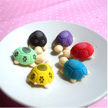 12 pcs/lot Creative Cartoon DIY Removable Eraser Colorful Kawaii Turt Hello Kitty Thomas Stea Crab Stationery Gift School Supply