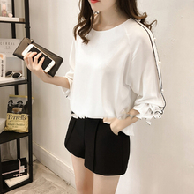 Buy Plus Size Chiffon Shirt Female 2018 Blusa Beaded Tops Autumn Long-sleeved Solid Color Women Blouse Women Clothing for $6.29 in AliExpress store
