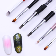 1Pc BORN PRETTY Gradient Drawing Nail Brush Round Flat Oblique Head UV Gel Painting Pen Manicure Nail Art Tool Accessories