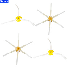 Total 4Pcs New 2 x 3 Arms Sidebrush & 2 x 6 Arms Sidebrush For iRobot Roomba 500 600 700 Series 550 560 630 650 780 Free Post