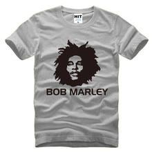 86c867bd637 2018 Hot Sale 100% Cotton New Bob Marley Reggae Music Gray Short Sleeve Men  T Shirt Size S-3XL Summer Tee Shirt