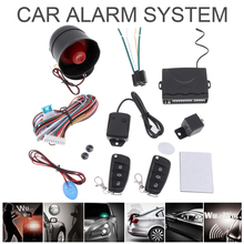 Universal 12V Auto Car Alarm Central Kit Door Lock Vehicle Keyless Entry System with Remote Control Siren Sensor(China)