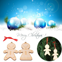 2PCS Christmas Hanging Ornaments Gingerbread Man Small Decor Decoration Pendant(China)