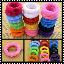 80pcs/bag Quality 30mm Child baby Small Rubber Bands Elastic Ponytail Holders Hair Ring Accessories Girl Rubber Bands Tie Gum