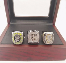 Wholesale Replica 3 Years Sets 2010/2012/2014 San Francisco Giants Major League Baseball Championship Ring With Wooden Box