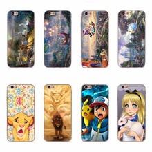 Phon Bag Case For Apple iPhone 7 TPU Silicone Cover Case Lovely Aladdin Princess Lionking Cartoon Design For iPhone 7 Cover Case