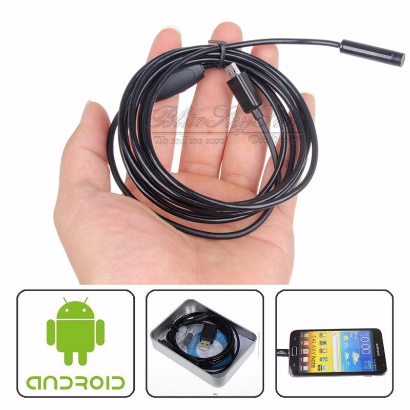 Eyoyo 5.5MM Lens 1M/5M Tube Endoscope Inspection Borescope LED Camera for Android Phone<br><br>Aliexpress
