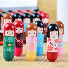 1PCS Lip Lipstick Cartoon Doll lip Balm Moisturizing Repair Lipstick Randomly Color Fruit Nature Nourishing Makeup Cosmetic(China)