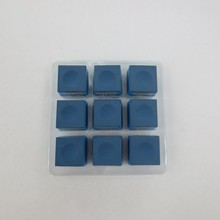 snooker billiard chalk /Pan Xiao Ting Chalk/ chalk/Green&Blue Quality pool Cue blue chalk /accessories/ 9 pcs/box(China)