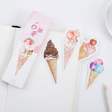 30pcs/box originality Delicious ice cream Student Bookmarks Stationery Gift Realistic Cartoon Bookmarks Office School Supply(China)