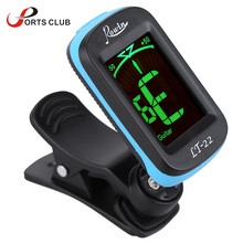 Acoustic Guitar Tuner Clip-On Automatic Digital Electronic LCD for Electric Bass Chromatic Violin Ukulele
