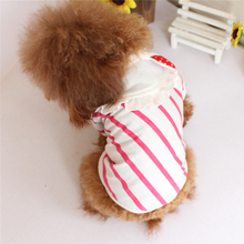 Summer Clothes For Dogs Puppy Cat Strip Vest Small Pet Dog Shirts York Teddy Clothes High Quality Pet Costumes
