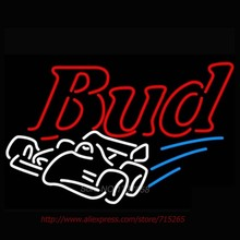 2016 Hot Neon Sign Bud Car Commercial Custom neon Bulbs Budweiser Race Car Sign REAL NEON STORE DISPLAY BEER SIGN Neon 30x24(China)